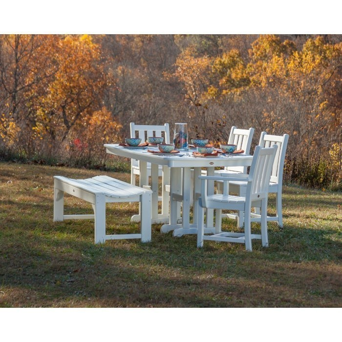 """Polywood Traditional Garden 48"""" Backless Bench"""