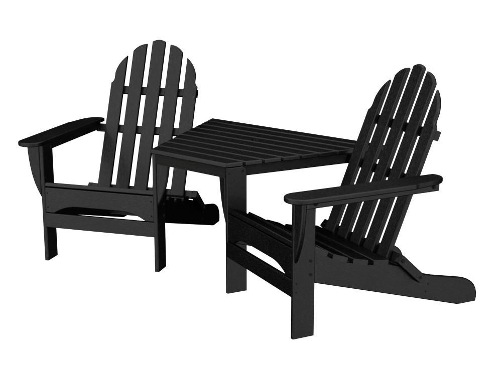 Adirondack Tête-À-Tête recycled plastic Polywood outdoor furniture  black