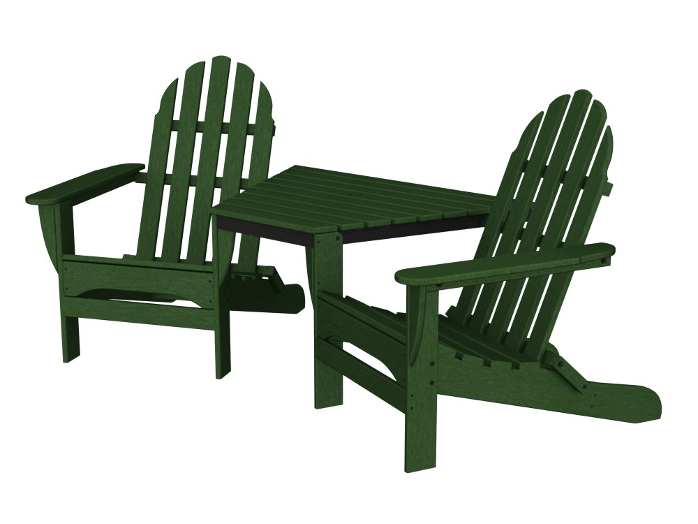 Adirondack Tête-À-Tête recycled plastic Polywood outdoor furniture green