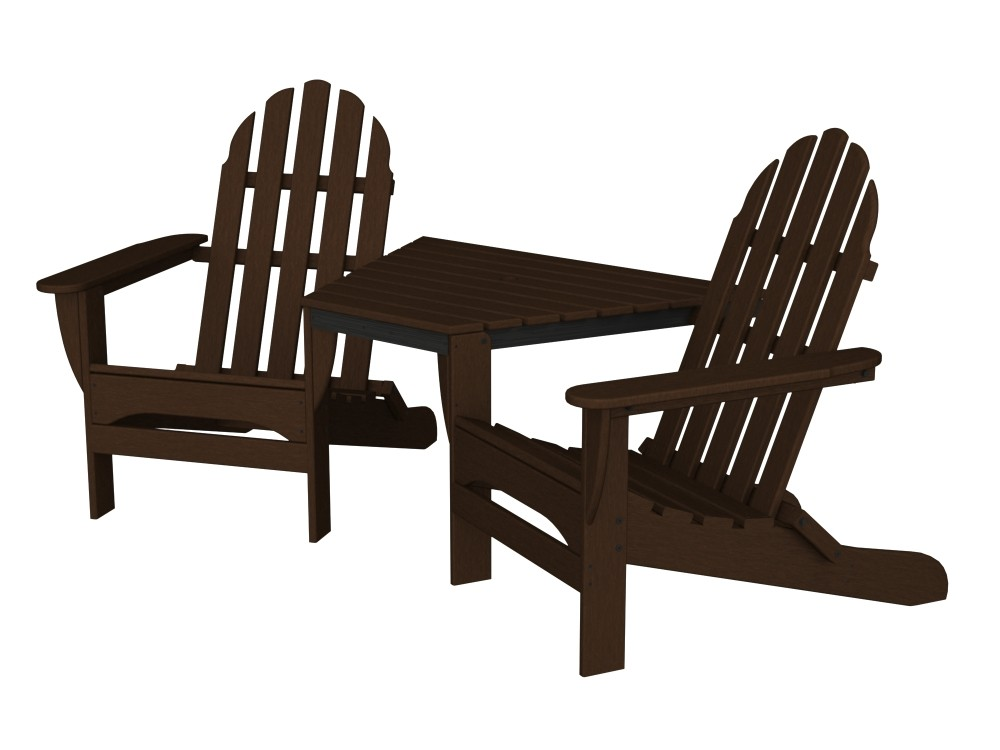 Adirondack Tête-À-Tête recycled plastic Polywood outdoor furniture  teak