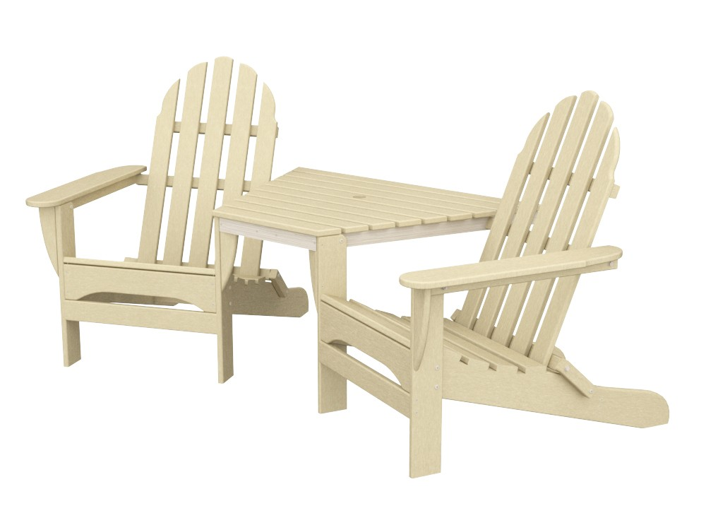 Adirondack Tête-À-Tête recycled plastic Polywood outdoor furniture  sand