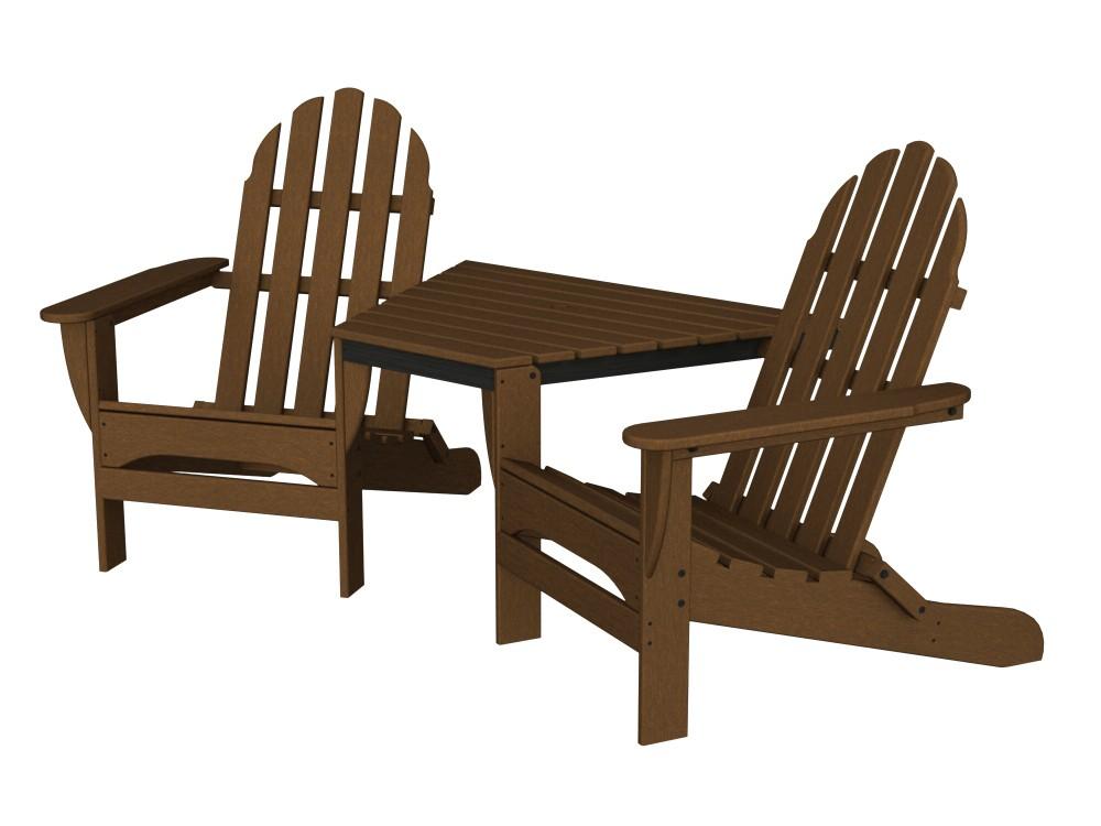 Adirondack Tête-À-Tête recycled plastic Polywood outdoor furniture  mahogany