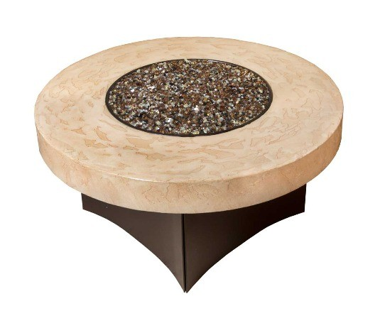 "Oriflamme Fire Pit Table Tuscan 38"" Round"