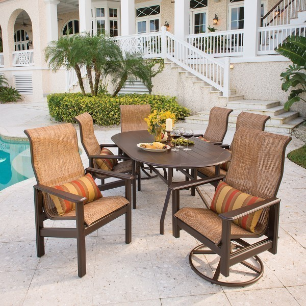 Hampton Dining Arm Chair and Swivel Glider Rocker - Lifestyle