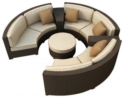Malibu Curved Sectional Sofa Set 6 Piece 7199 499931 Off